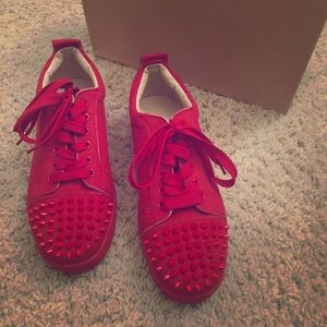 Other - Christian Louboutin style spiked sneakers EU 39.5